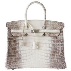 f5c5b46c9b Guaranteed authentic Blanc Himalaya crocodile HERMES Birkin 35. This  beautiful rare bag is the most rare in 35cm. Due to the rarity of the skin