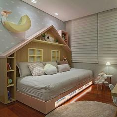 Image may contain: indoor Big Girl Rooms, Baby Boy Rooms, Kids Bed Design, Scandinavian Kids Rooms, Modern Kids Bedroom, Baby Room Furniture, Cool Kids Rooms, Girl Bedroom Designs, Kid Beds