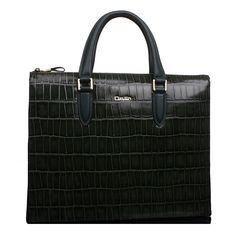 3122557c67 High-grade Crocodile Leather Briefcase Messenger Green Bag