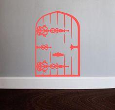 Fairy Door Vinyl Wall Decal by OZAVinylGraphics on Etsy