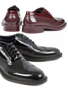 Glossed Plastic Brogues by Vivienne Weswood 4b8802a6e3a
