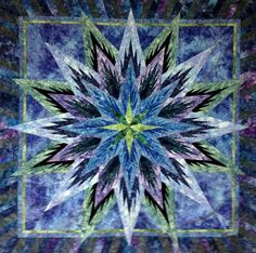 Judy Niemeyer Feathered Star Quilt | Feathered Star ~ Quiltworx.com, made by Certified Instructor, Roger ...