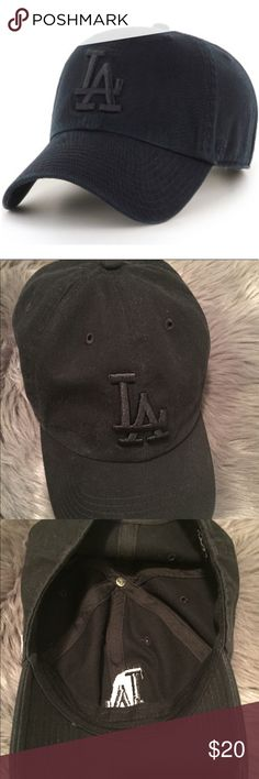 LA Hat Black hat. Adjustable back. Worn once. Sold as is. I do not trade. 47 Accessories Hats