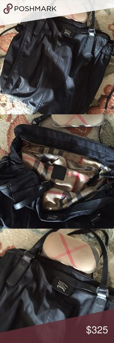 Burberry satchel handbag Burberry canvas tote leather trim. Nova check lining. Lining needs cleaning . Burberry Bags Totes