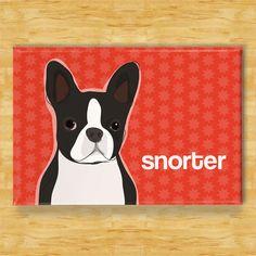 Boston Terrier Magnet - Snorter - Boston Terrier Gifts Fridge Refrigerator Dog Magnets