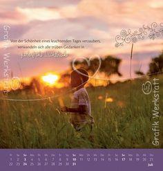 Momente des Glücks 2016 - Postkartenkalender - Grafik Werkstatt Bielefeld