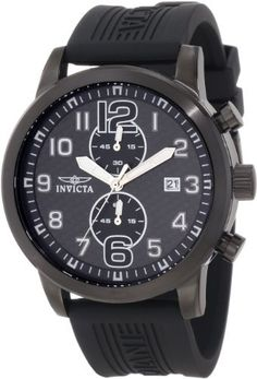 Invicta Men's 11245 Specialty Black Chronograph Carbon Fiber Dial Black Polyurethane Watch Invicta. $124.99. Japanese quartz movement. Flame-fusion crystal; brushed and polished black ion-plated stainless steel case; black polyurethane strap. Water-resistant to 100 M (330 feet). Black carbon fiber dial with white hands, hour markers and arabic numerals; luminous; polished black ion-plated stainless steel crown and pushers. Chronograph functions with 60 second, 6...