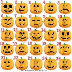 Free Halloween Pumpkin Carving Tremplates