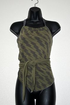 Upcycled wrap around halter top by oreomocha on Etsy, $23.00