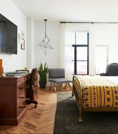 This soon-to-open boutique hotel, The Line, is set in Adams Morgan which is the only 24-hour neighborhood in DC with live music, all-night diners, coffee shops, and vintage shops. The interior is beautifully designed. Keep an eye out and be the first to book a room when it opens on May 2017! | Photo Credit: The Line Hotel - DC