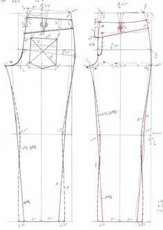 drafting jeans pattern 469b0eaf580ca&filename=청바지패턴2.gif (460×650) from: http://blog.daum.net/heart777/3385024
