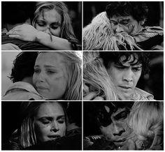 Bellarke Hugs || The 100 season 3 trailer || Bellamy Blake and Clarke Griffin || Bob Morley and Eliza Taylor