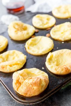 German Pancake Minis Puffy German Pancakes are an easy to make puff pancake in muffin tin size The post German Pancake Minis appeared first on Deutschland. Puff Pancake, Dutch Baby Pancake, Pancake Muffins, Oven Pancakes, Pancake Party, Baby Pancakes, What's For Breakfast, Breakfast Dishes, Breakfast Recipes
