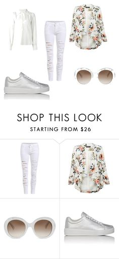 """""""White"""" by bianca-b-santos on Polyvore featuring moda, WithChic, New Look, Gucci, Prada Sport e See by Chloé"""