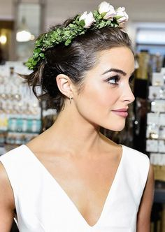 Olivia Culpo's flower crown is out of this world