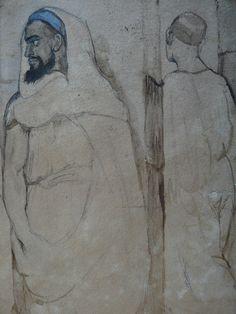 CHASSERIAU Théodore,1846 - Arabe barbu et autres Figures - drawing - Détail 15
