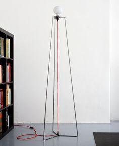 LED direct light iron floor lamp EASY / REMOVABLE by @bigdesignstudio