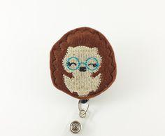 Hedgehog - Felt Badge Reel - Nurse Name Badge Holder - Retractable ID Badge - Cute Badge Reels - Pediatric - Teacher - RN - Badge Clip by SimplyReelDesigns on Etsy