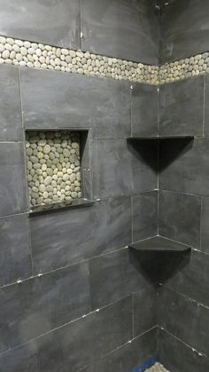 Absolute Black Granite Shower Corner Shelf Diamond Shape - Bathroom Granite - Ideas of Bathroom Granite - Absolute Black Granite Shower Corner Shelf Diamond Shape Granite Shower, Granite Bathroom, Shower Corner Shelf, Shower Shelves, Modern Bathroom, Small Bathroom, Bathroom Closet, Budget Bathroom, Floating Shelves Diy