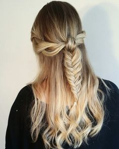 #brunette #blonde #balayage #ombre #highlights #updo #braid #fishtail
