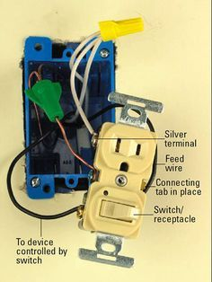 All About Combination Switches And Receptacles In 2021 Electrical Projects Home Electrical Wiring Electrical Wiring