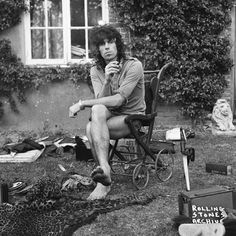 1st August 1973. Keith, outside his home Redlands, following a fire. Keith, Anita and the children escaped, but the house was badly damaged and the family lost many of their possessions.