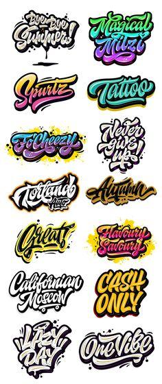 Kirill Richert on Behance Wie Zeichnet Man Graffiti, Graffiti Text, Graffiti Doodles, Graffiti Writing, Street Art Graffiti, Graffiti Art Drawings, Graffiti Artists, Graffiti Lettering Alphabet, Tattoo Lettering Fonts