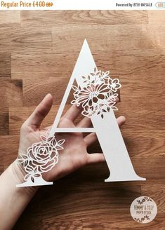 Floral Letter 'A' SVG PDF Jpg Dxf Png Design - Papercutting Vinyl Template Commercial Use - Papercut - nursery papercut - new baby papercut - Trend Design Home App 2019 Diy Craft Projects, Diy And Crafts, 3d Paper Crafts, Welding Projects, Wood Crafts, Origami, Neli Quilling, Quilled Roses, Quilling Comb
