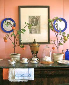 peachy wallcolour