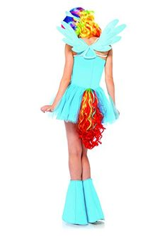 Leg Avenue Women's My Little Pony Friendship Is Magic 6 Piece Rainbow Dash, Blue, Large  - Click image twice for more info - See a larger selection womens halloween costume at http://costumeriver.com/product-category/womens-halloween-costumes/ -  holiday costume , event costume , halloween costume, cosplay costume, classic costume, scary costume, super heroes costume, classic costume, clothing