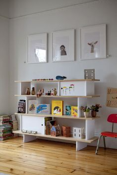 'Oeuf' furniture designers' home/ kids' room #storage #animal photographs  Photography by julieansiau.com  Read more - http://www.stylemepretty.com/2013/06/24/behind-the-scenes-with-oeuf/