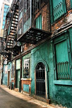TEAL and wrought iron.