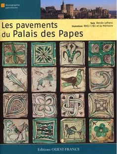 Avignon : book about pavements of Pope Palace - beautiful ! announcing Matisse, Picasso, Cocteau...