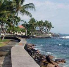 Oceanfront at Kailua-Kona, Big Island, Hawaii,