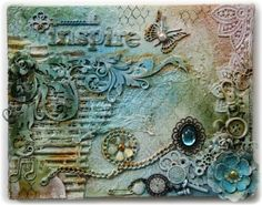 Inspire  Mixed Media Canvas by lily22