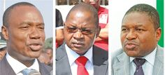 JOSÉ Pacheco, Alberto Vaquina, membros da Comissão Politica da Frelimo, e Filipe Nyussi, membro do Comité Central, foram ontem indicados pela Comissão Política do partido, para pré-candidatos à candidatos para o cargo de Presidente da República de Moçambique, nas eleições presidenciais do próximo ano.