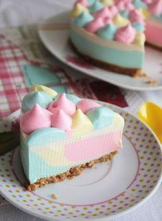 Cheesecake de Unicornio (o arcoiris) sin Horno