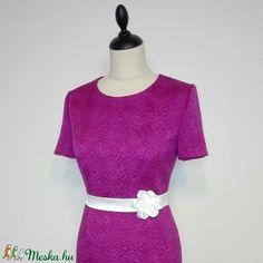 Fukszia ruha szatén övvel (nicoledesign) - Meska.hu Short Sleeve Dresses, Dresses With Sleeves, Women's Fashion, Fashion Women, Sleeve Dresses, Gowns With Sleeves, Womens Fashion, Woman Fashion