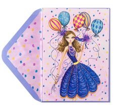 Bella Pilar Party Girl with Balloons Price $5.95