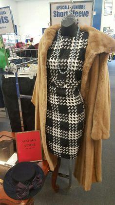 Vintage coat, dress, & hat at our Monroeville store