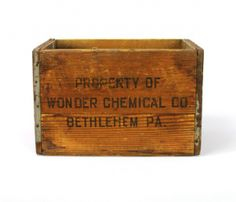 Vintage Wonder Chemical Crate