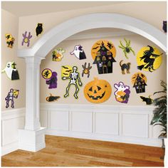 Glittery Halloween cutouts! These are an easy and affordable way to decorate for Halloween parties!