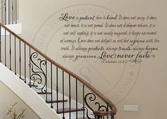 Love Is Patient, Love Is Kind Vinyl Wall Statement - 1 Corinthians 13:4-8