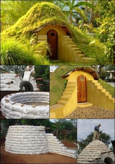 arthbag dome home is well suited for many purposes. You can use it as a cool getaway space in summer. A warm escape for the winter. Could you live here? How to build one - http://project.theownerbuildernetwork.co/2014/10/24/diy-earthbag-dome-home/