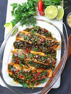 UGNSBAKAD LAX MED ASIATISKA SMAKER   zofias_kok Clean Recipes, Easy Dinner Recipes, Cooking Recipes, Salmon Recipes, Fish Recipes, Healthy Snacks, Healthy Eating, Vegetarian Recipes, Healthy Recipes
