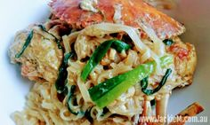How to Cook Mud Crab with Ginger & Shallots & Noodles - Jackie M Crab Dishes, Mud, Noodles, Singapore, Spaghetti, Asian, Chicken, Cooking, Ethnic Recipes