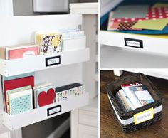 Great Ideas for How to Beautifully Organize a Craft/Home Office Space... Links to the Furniture Pieces are Buried Throughout the Post | IHeart Organizing