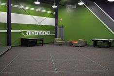 Teen Church Rooms | Near the stage of the pre-teen large group room