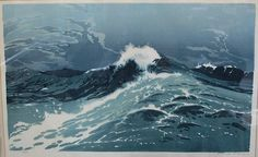 After The Storm, woodcut, by Oscar Droege