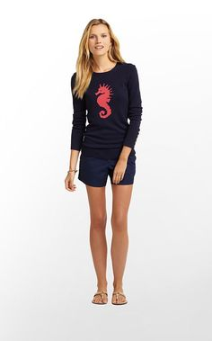 Lilly Pulitzer Charter Sweater- Seahorse